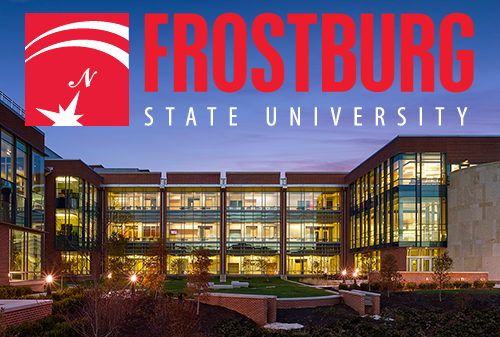 Frostburg State Gira Center at night